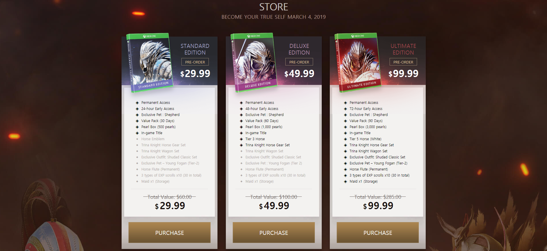 BDO Xbox Release Packages
